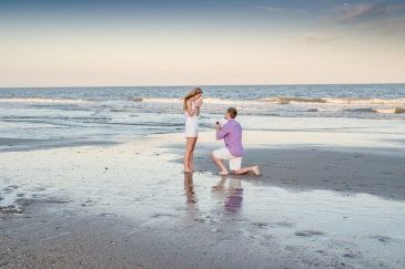 Sunset Beach Ocean Isle engagement pics