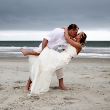 sunset beach wedding photographers