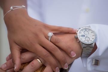 photo of rings at wedding in Sunset Beach North Carolina
