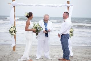 wedding on beach in Sunset Beach, NC