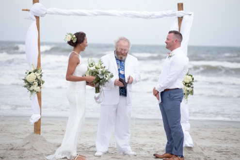 wedding on beach in Sunset Beach, NC