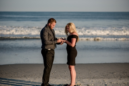 beach engagement sunset beach