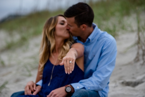 engagement photo sunset beach