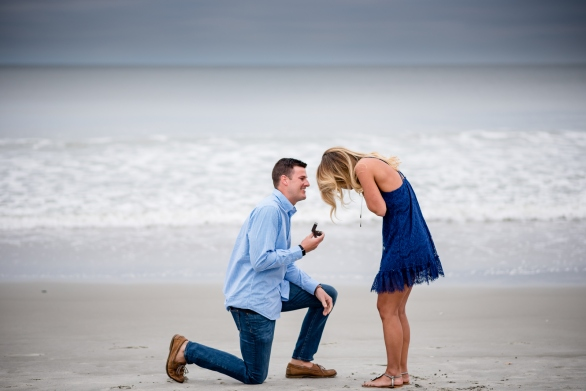 suprise proposal in Sunset Beach, NC